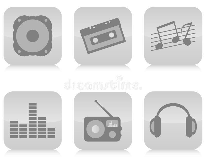 ikon muzyczny setu wektor ilustracji