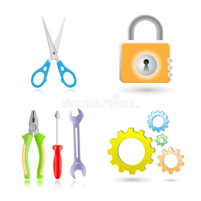 ikon narzędzia ilustracja wektor