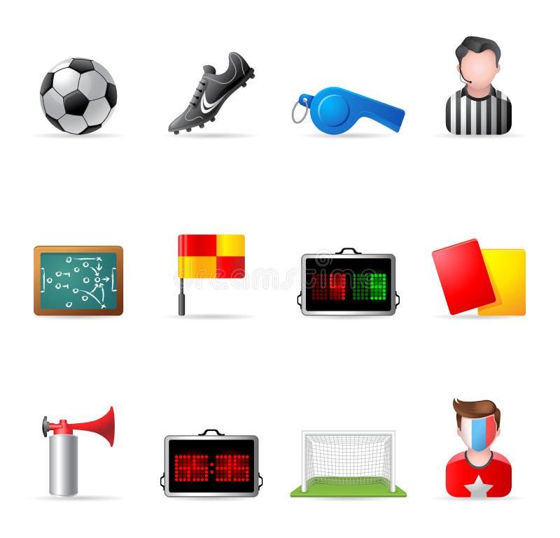ikon piłki nożnej sieć ilustracja wektor