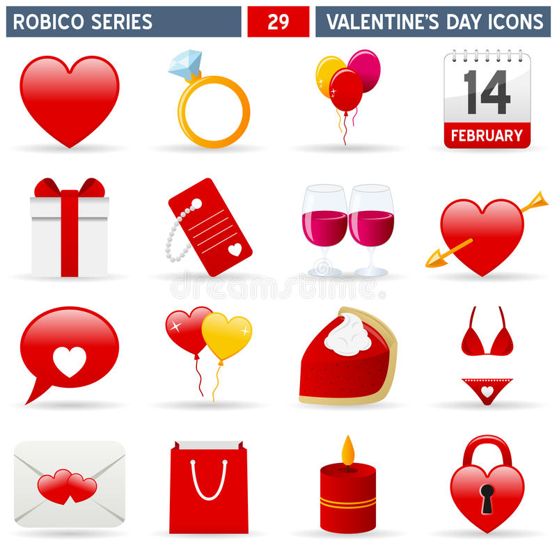 Ikon Robico Serii Valentine Fotografia Royalty Free