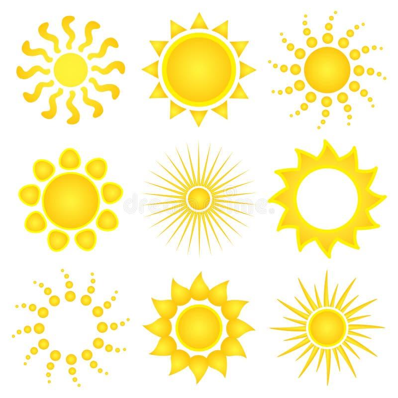 ikon słońca wektor ilustracja wektor
