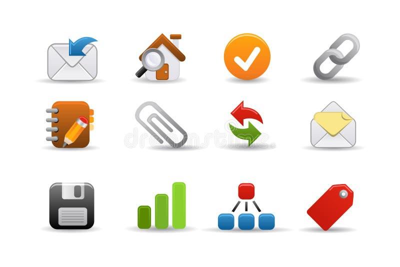 ikon serie gładzą sieć zdjęcie stock