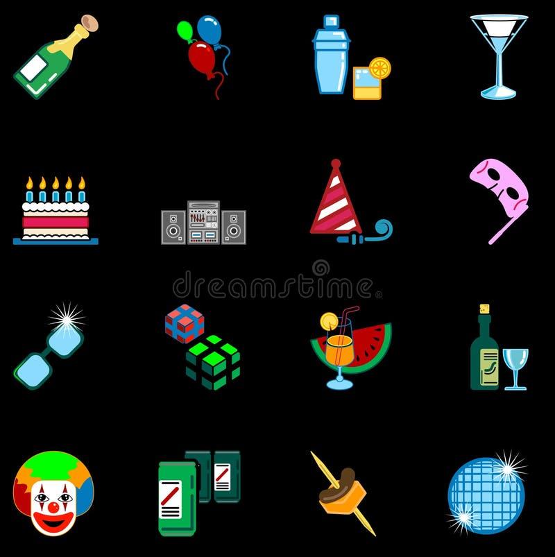 ikon szereg partyjne ustawienia ilustracji