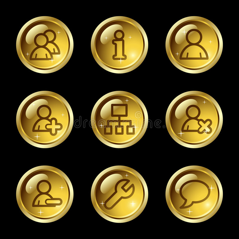 ikon użytkowników sieć ilustracja wektor