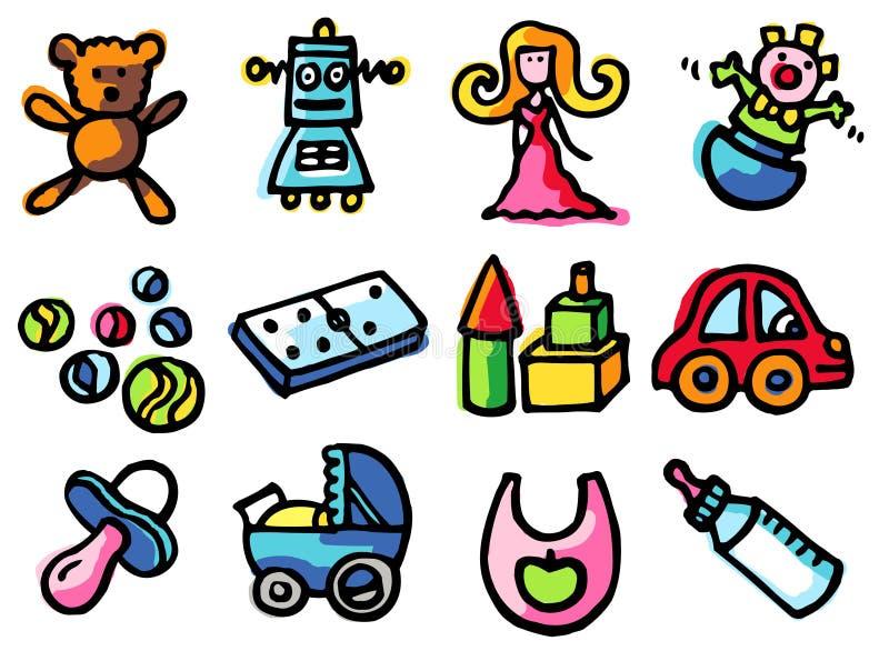 ikon zabawki. ilustracji