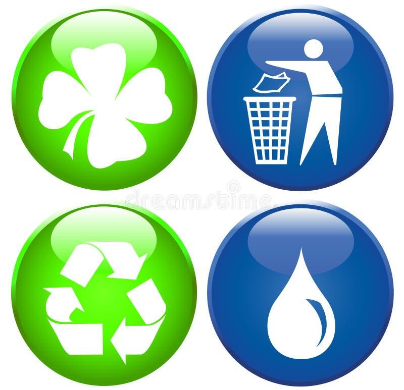 ikona środowiskowy set ilustracja wektor