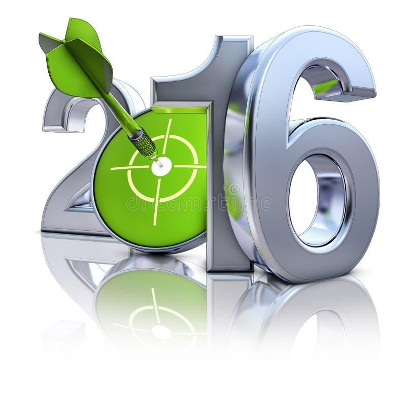 2016 ikona ilustracja wektor