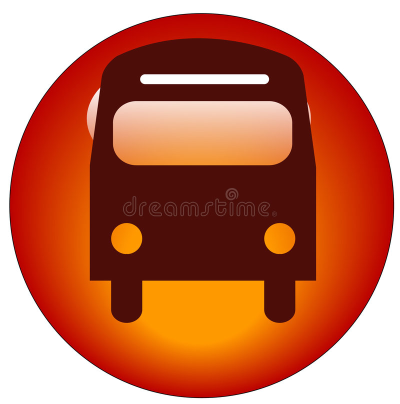 ikona autobus royalty ilustracja