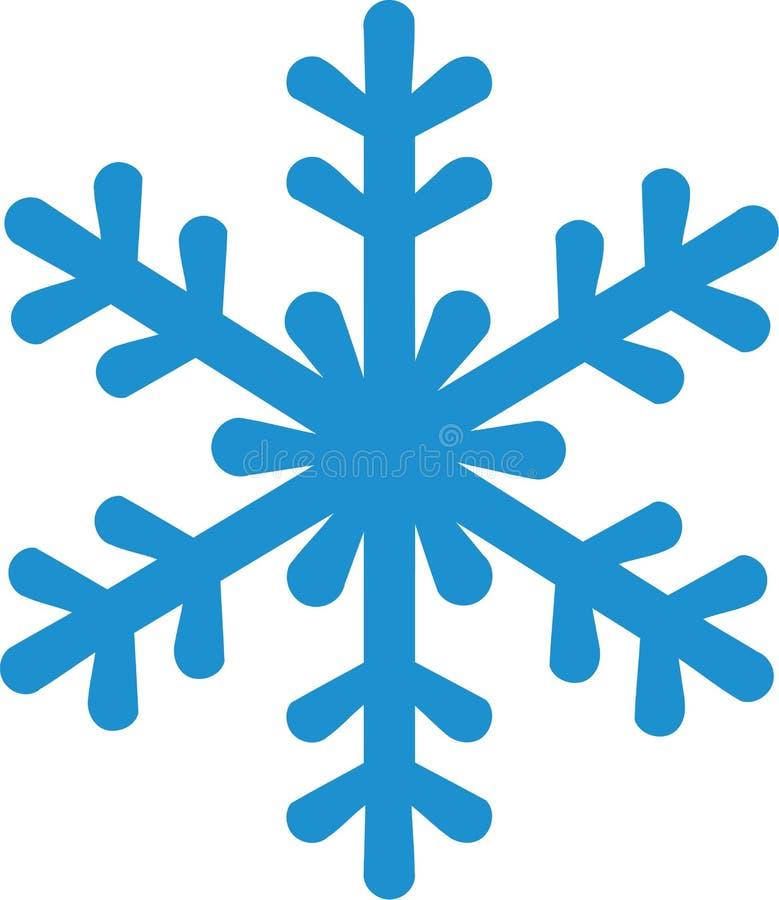 ikona błękitny płatek śniegu ilustracja wektor