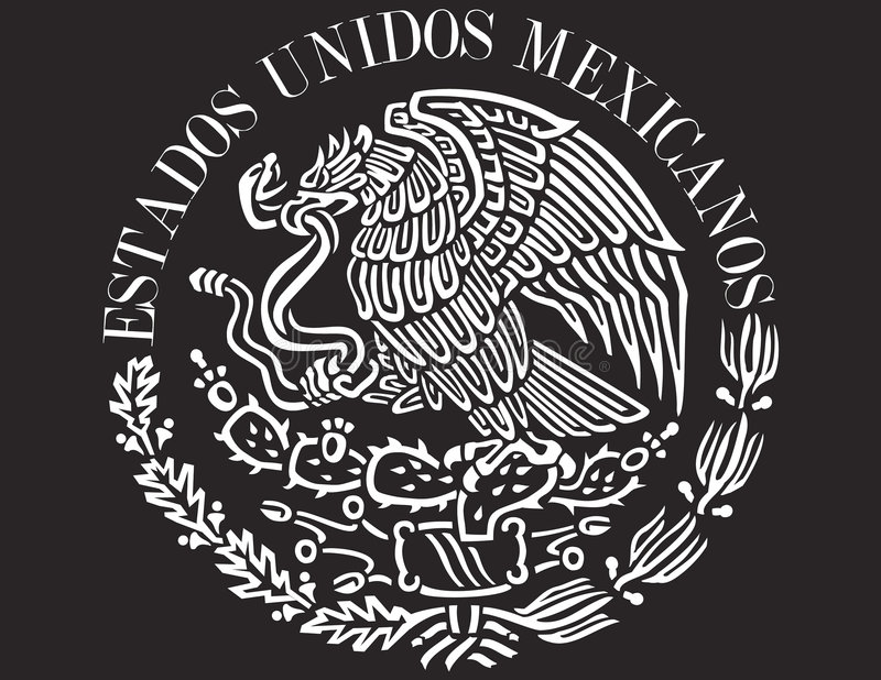 ikona bandery meksykanin ilustracji