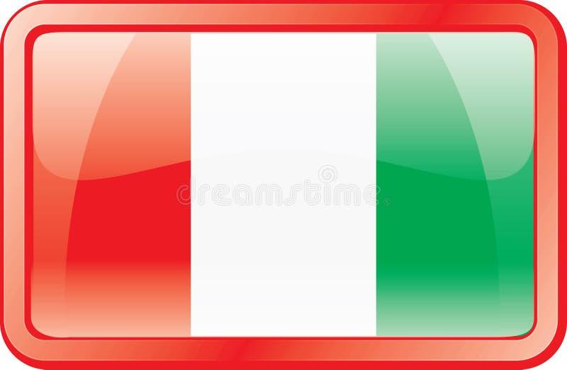 ikona bandery Włoch ilustracja wektor