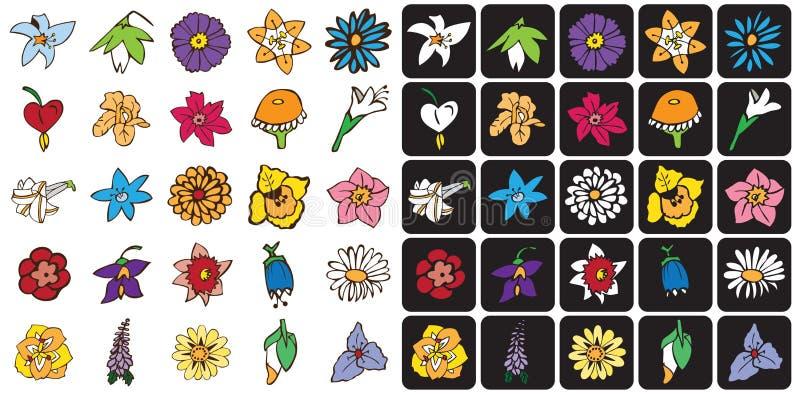 Ikona barwiący kwiaty ilustracji