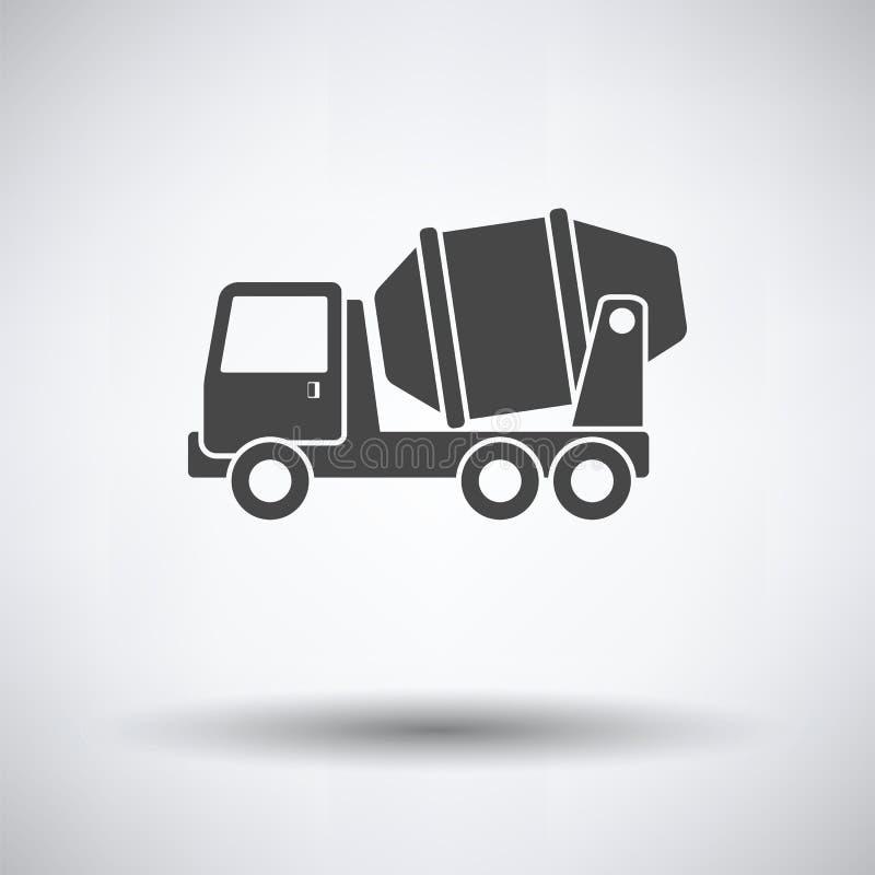 Ikona Betonowego melanżeru ciężarówka royalty ilustracja