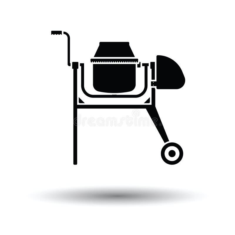 Ikona Betonowy melanżer ilustracja wektor