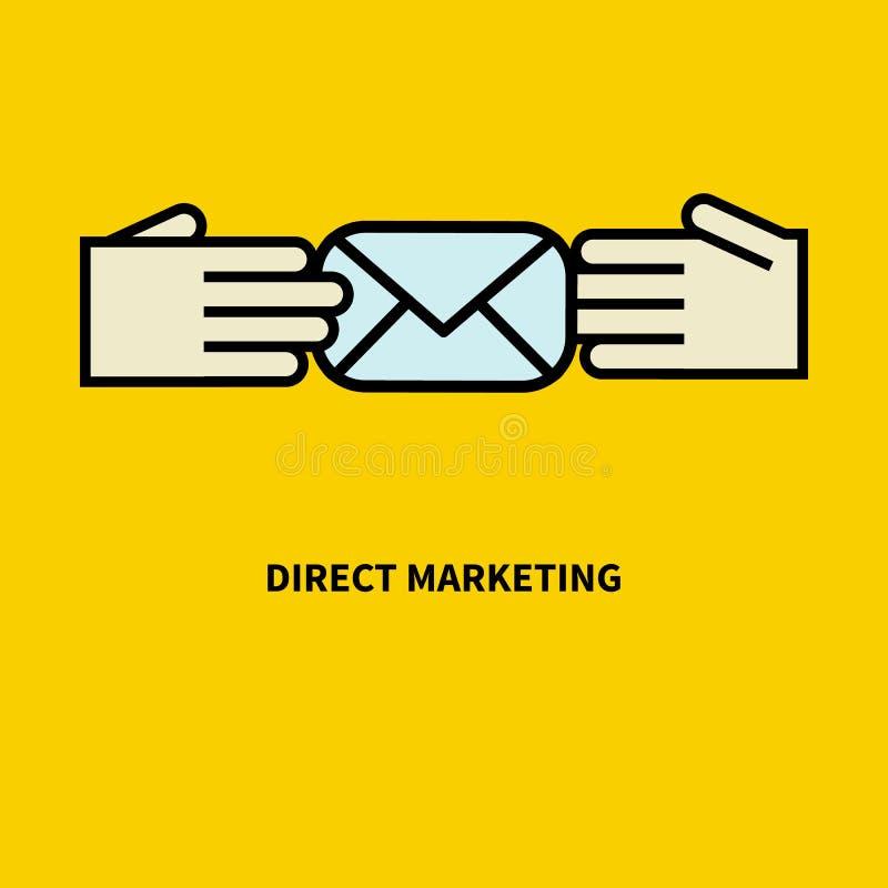 Ikona bezpośredni marketing ilustracja wektor