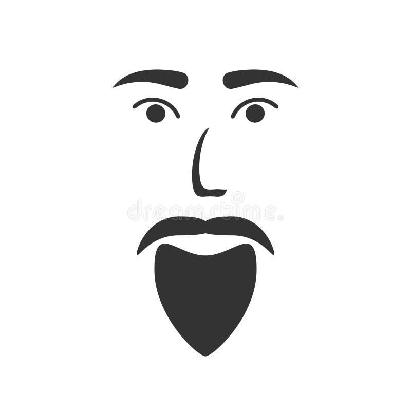 Ikona brodaty mężczyzna ilustracji