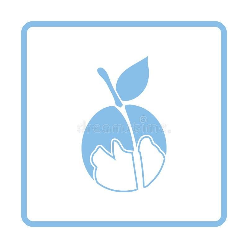 Ikona brzoskwinia ilustracja wektor
