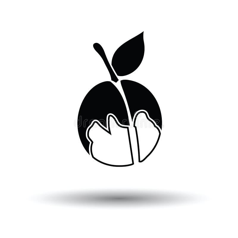 Ikona brzoskwinia ilustracji