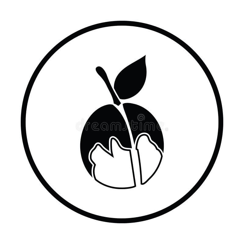 Ikona brzoskwinia royalty ilustracja