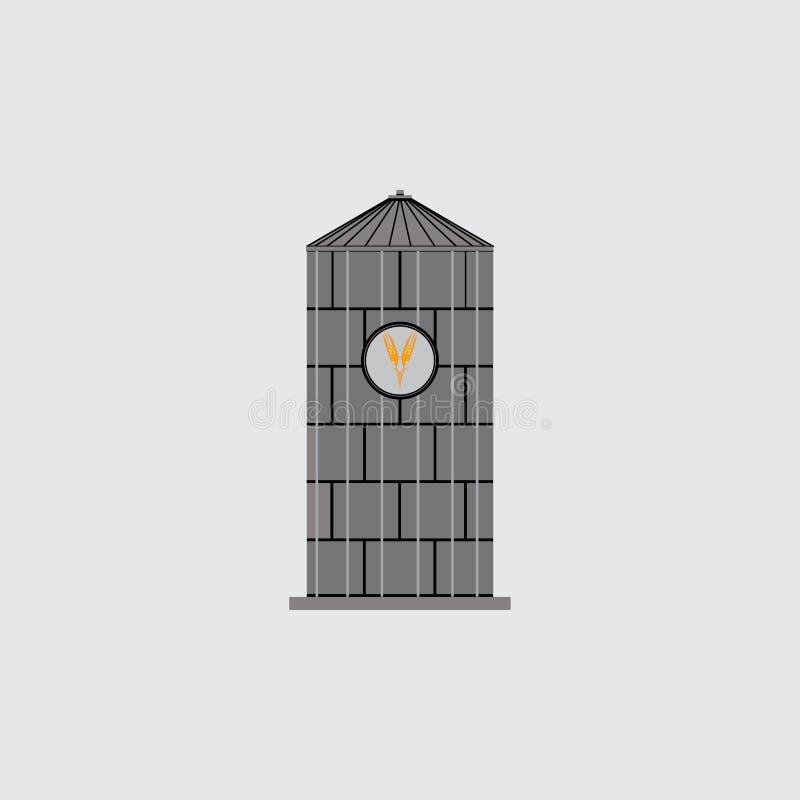 Ikona bunkieru silosy, emblemat dla firmy, ratuje adrę royalty ilustracja