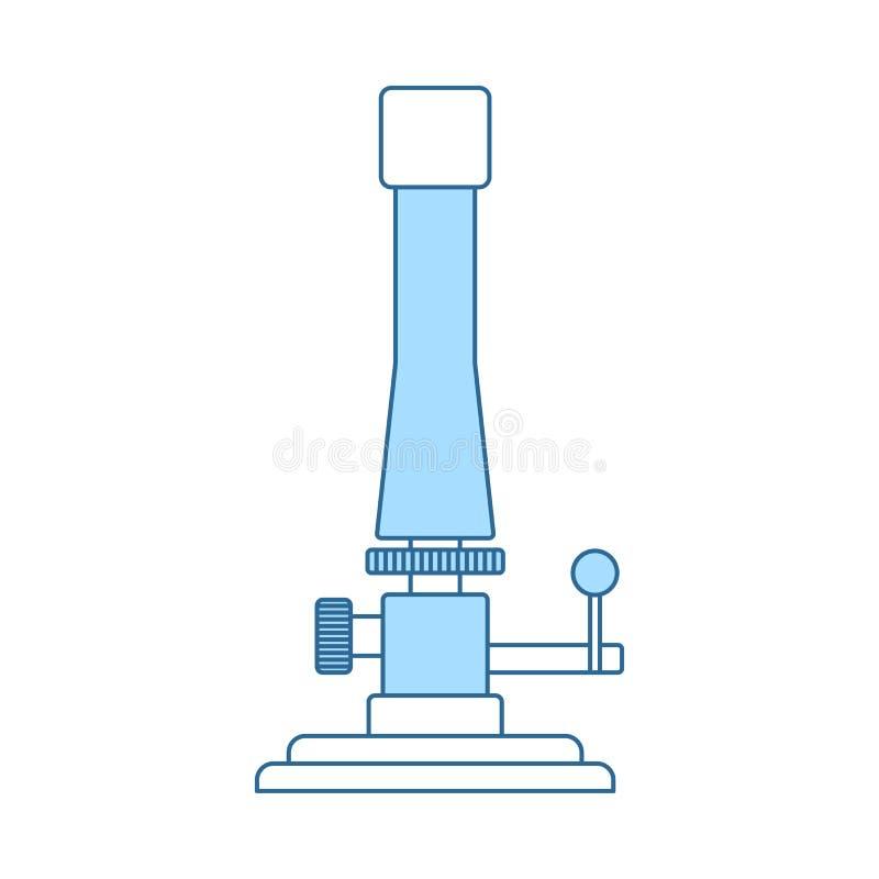 Ikona chemia palnik royalty ilustracja
