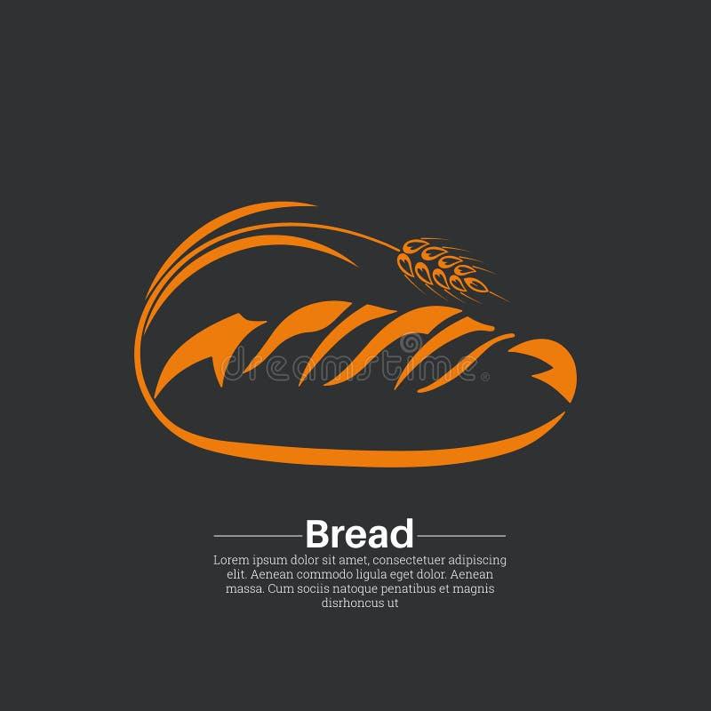 Ikona chleb ilustracja wektor