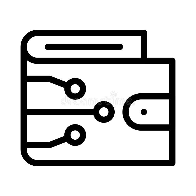 Ikona cienkiej linii wektora portfela zdjęcia stock