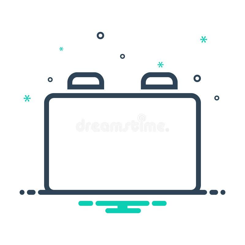 Ikona Czarna mieszanka dla opcji Uaktualnij, Podłącz i dodaj ilustracja wektor