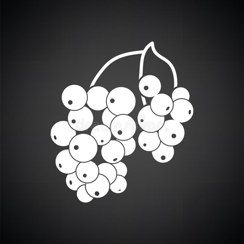 Ikona Czarny rodzynek ilustracja wektor