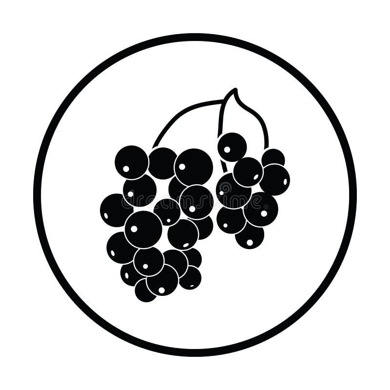 Ikona Czarny rodzynek ilustracji