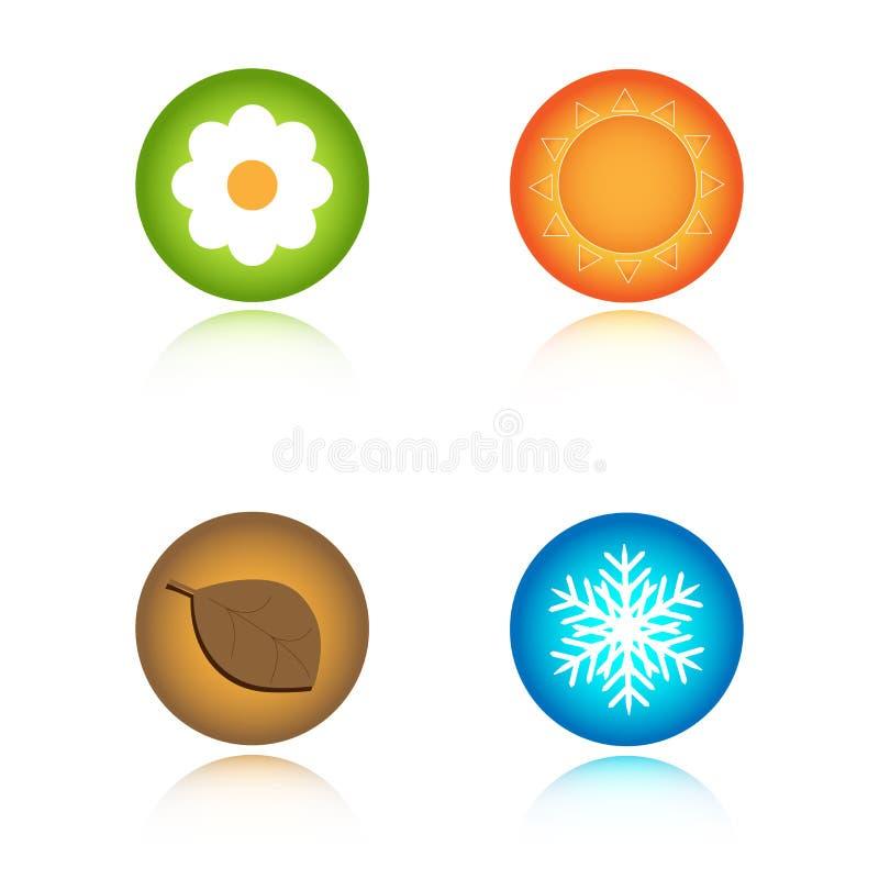 ikona cztery sezonu royalty ilustracja