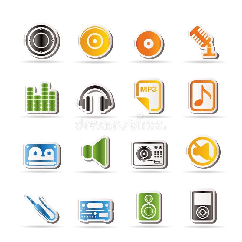 ikona dźwięk muzyczny prosty ilustracji