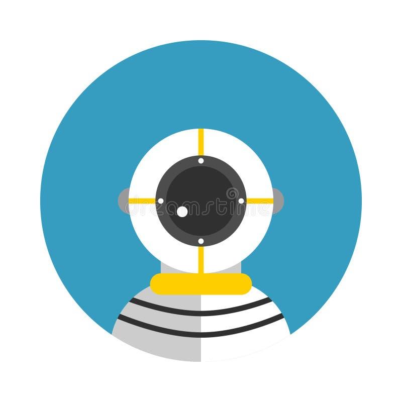 Ikona Dla Akcydensowego nurka royalty ilustracja