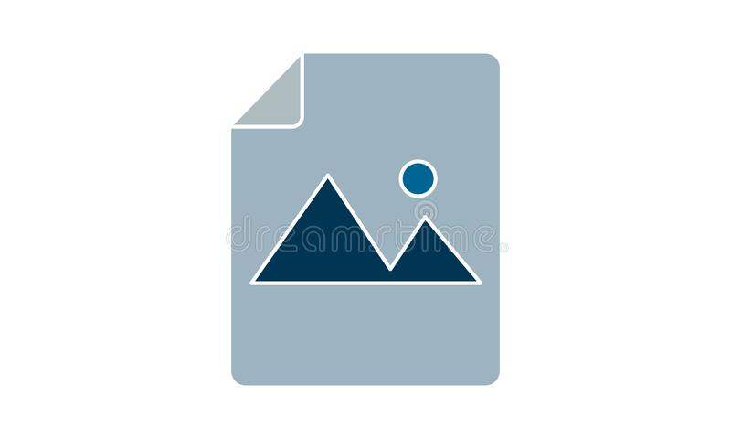 Ikona dokumentu obrazu Ilustracja wyizolowana dla grafiki i projektu WWW ilustracji