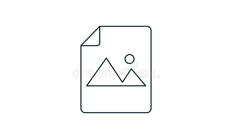 Ikona dokumentu obrazu Ilustracja wyizolowana dla grafiki i projektu WWW royalty ilustracja