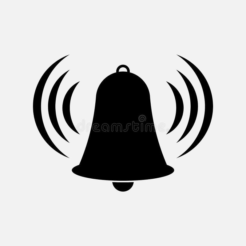 Ikona dzwon, wierza, ostrzega ilustracja wektor