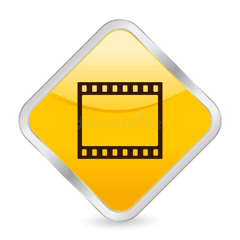 ikona filmowego square żółty pas ilustracja wektor