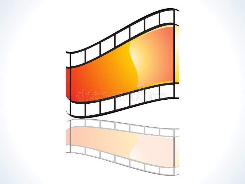 ikona glansowany film royalty ilustracja