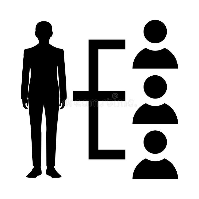 Ikona glifu wiodącego (izolowana grafika) Styl w prostej koncepcji biznesowej i biurowej w formacie EPS 10 elementów glifowych we ilustracji
