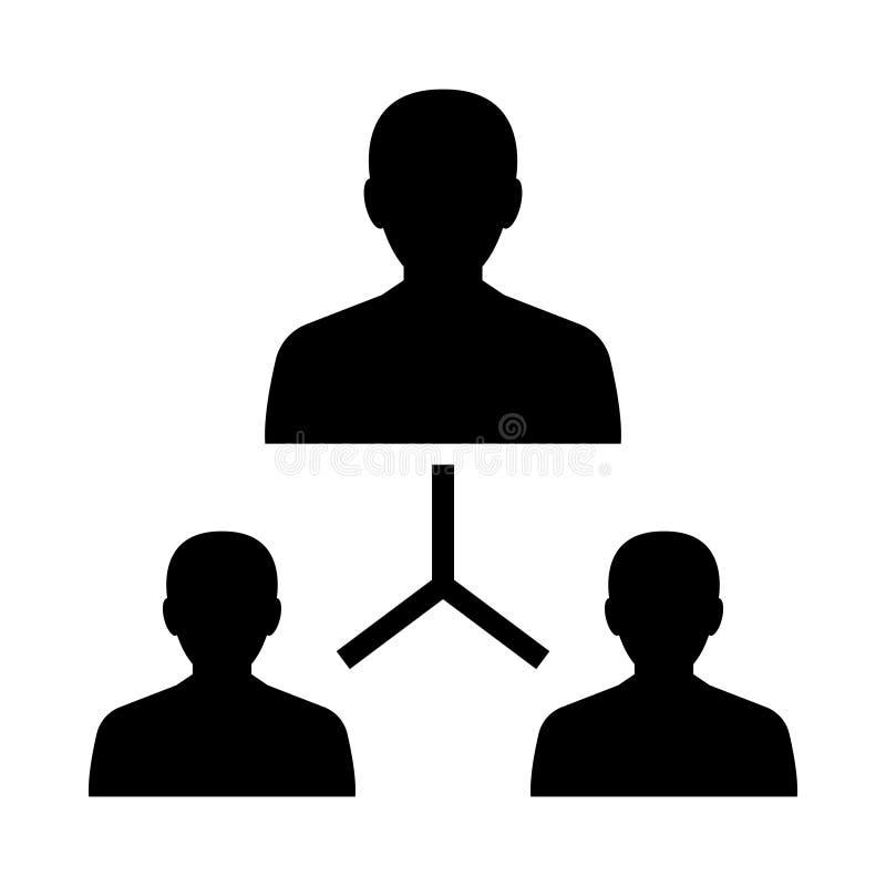 Ikona glifu wiodącego (izolowana grafika) Styl w prostej koncepcji biznesowej i biurowej w formacie EPS 10 elementów glifowych we ilustracja wektor