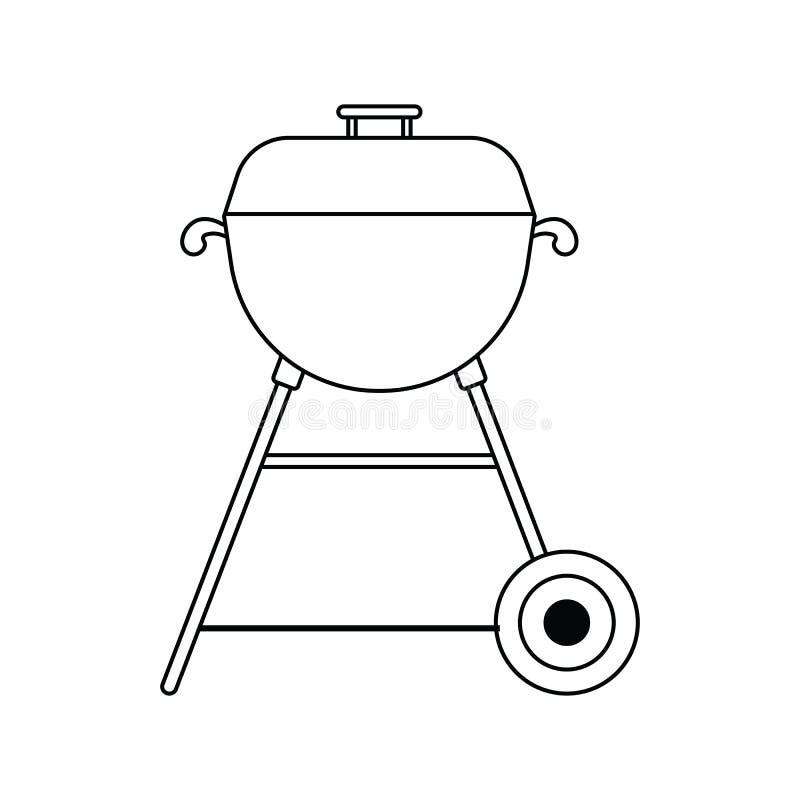 Ikona grill royalty ilustracja