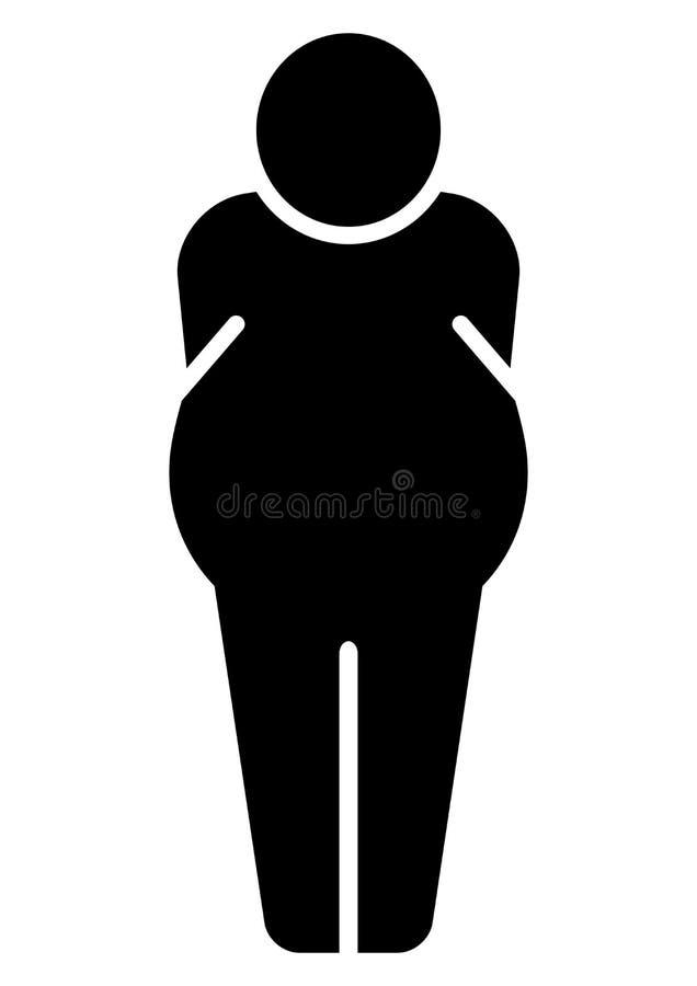 ikona gruby mężczyzna royalty ilustracja