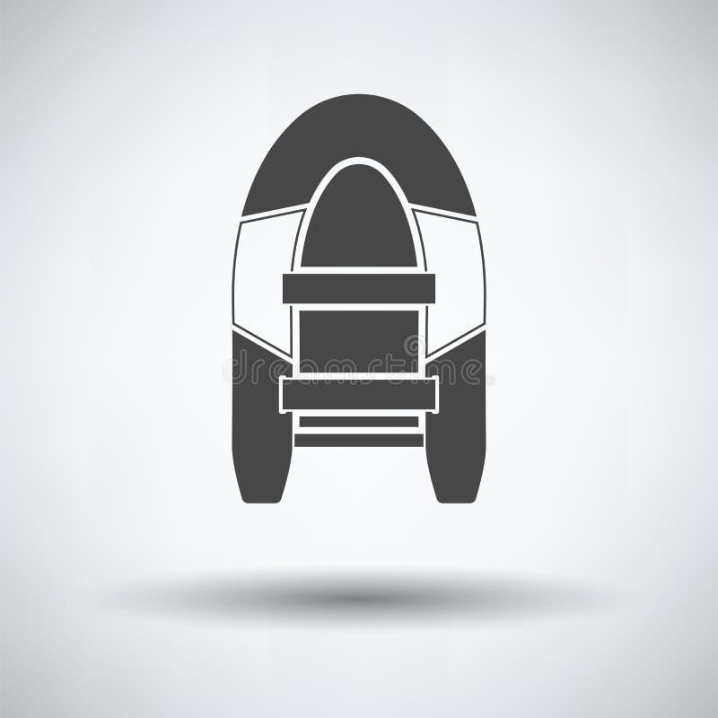 Ikona gumowa łódź ilustracji