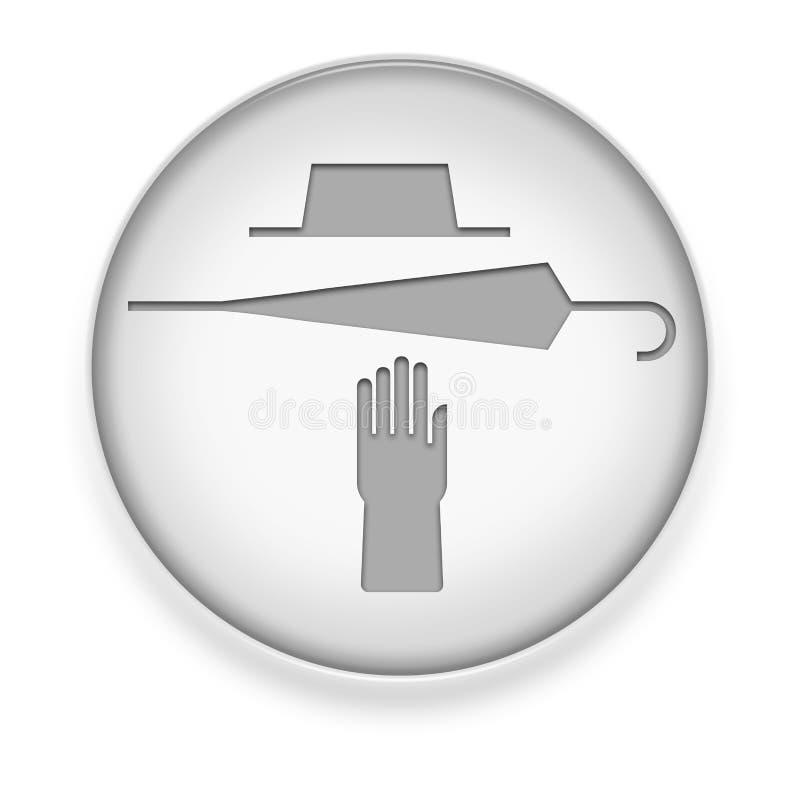 Ikona, guzik, piktogram Gubjący i Znajdujący ilustracji