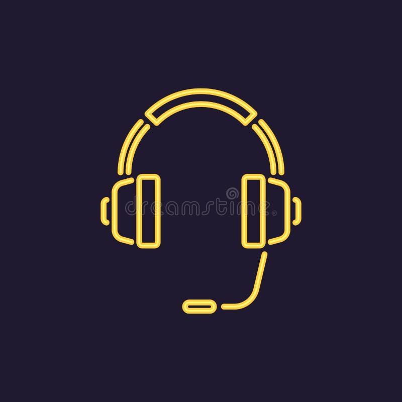 Ikona hełmofony z mikrofonem 3d tła centrum telefonicznego wizerunki odizolowywali biel również zwrócić corel ilustracji wektora ilustracji