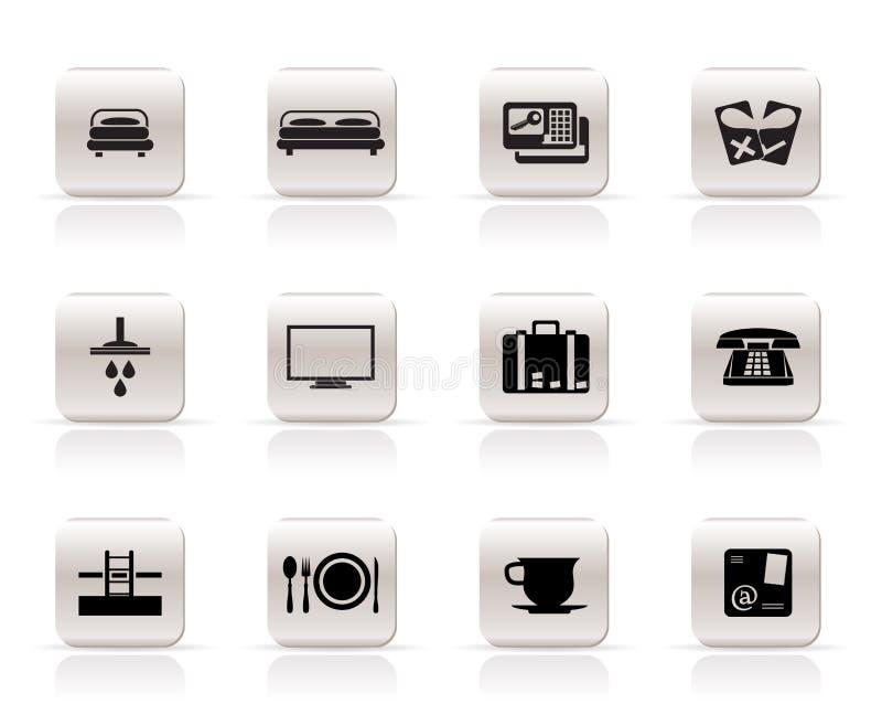 ikona hotelowy motel royalty ilustracja