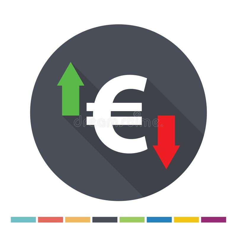 ikona inkasowy euro wielki wektor ilustracji