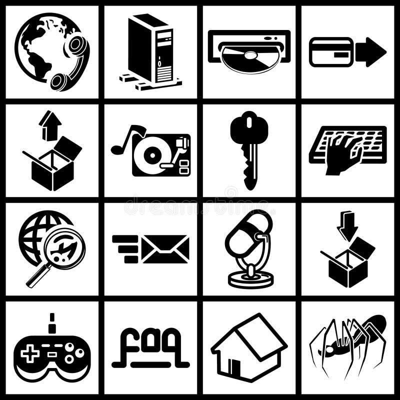ikona internetu ilustracji