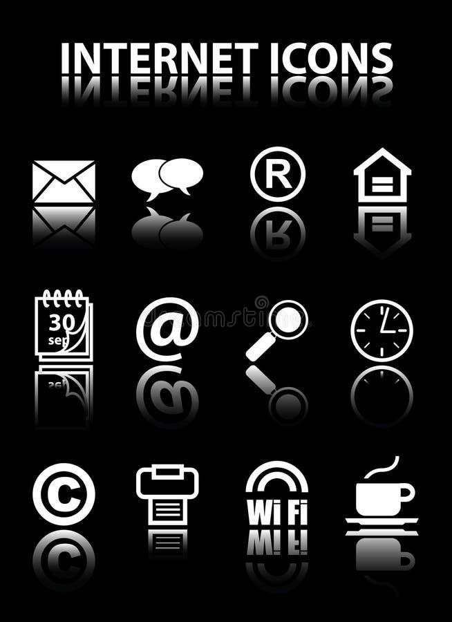 ikona internety ilustracji
