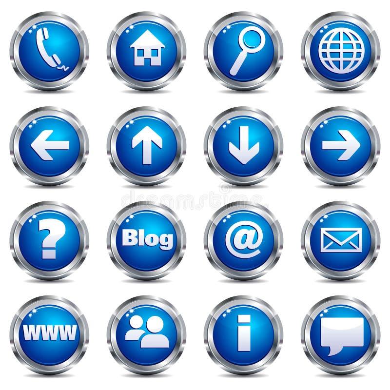 ikona internety miejsce jeden ustalona sieć ilustracja wektor